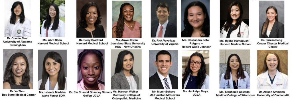 Congratulations to the 2020 winners of the SAAS Resident/Fellow Development Scholarships and the Association of Women Surgeons Diversity, Equity, and Inclusion Awards.