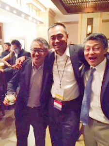 Drs. George Yang, Herb Chen and Dai Chung at a SAAS reception in Jacksonville, Florida.